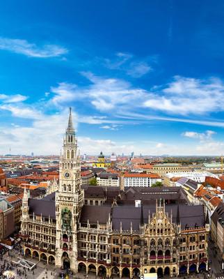 在慕尼黑玛利亚广场市政厅
