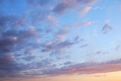 落日的天空
