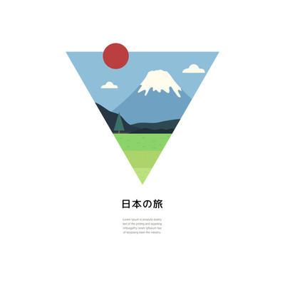 简单日本旅行海报设计