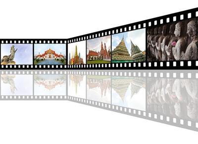 在泰国的旅游胜地的图片电影带