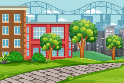 室外城市景观图