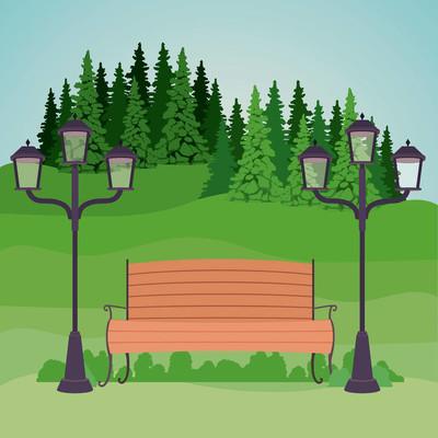多彩的公园景观设计