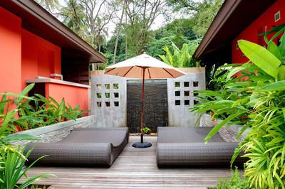 室外游乐区的水疗中心,普吉岛,泰国