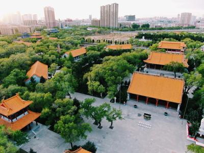 航拍齐齐哈尔大乘寺
