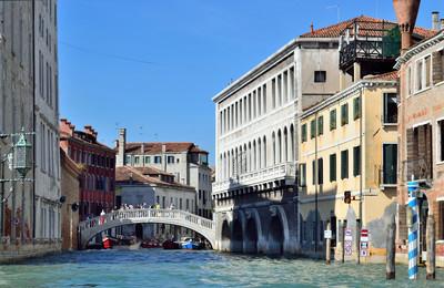在威尼斯的水街