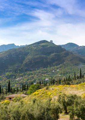 拉伊尔韦拉城堡,Cazorla 小镇的景色