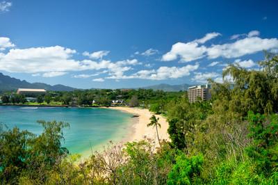 美丽的景色的 Nawiliwili,考艾岛,夏威夷,美国