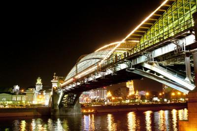 夜晚的城市景观桥