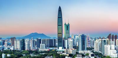 摩天大楼和一个现代化的城市豪宅