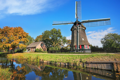 The quiet stream and  Windmills