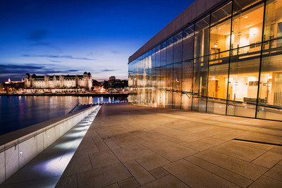 奥斯陆歌剧院在晚上