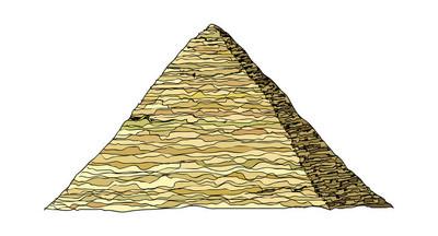 金字塔矢量图
