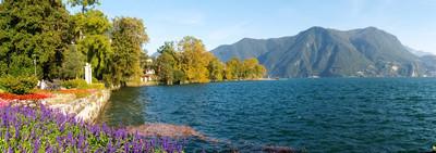 Lugano,瑞士。从植物公园图片