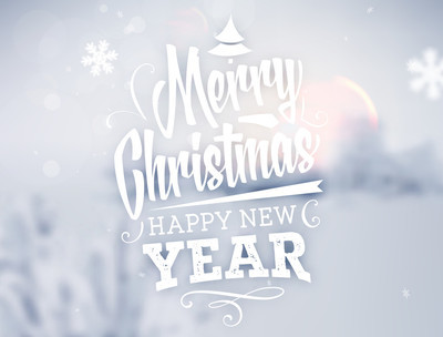 Christmas Greeting Card  in white color