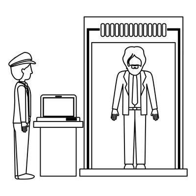 乘客与安全检查站设计