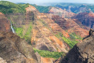 怀梅阿峡谷瞭望在夏威夷考艾岛