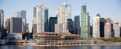 温哥华的市中心全景