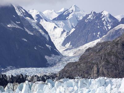 阿拉斯加冰川景观