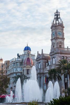 市政厅的 Valencia,西班牙