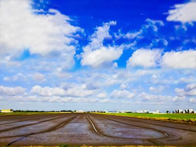 美丽的景色的稻田与清晨的日出, 蓝天背景, 稻田与蓝天和云, 美丽的稻田与清晨日出, 蓝天背景, 稻田绿草和蓝天