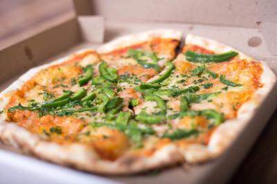 意大利比萨饼用纸框美味宏图片青椒