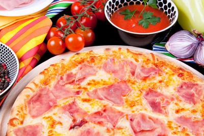 披萨意大利熏火腿