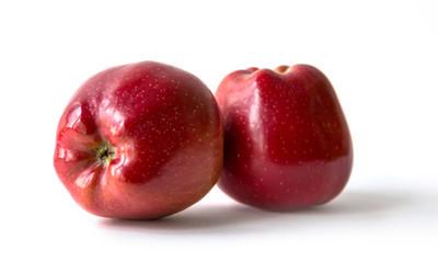 两个红苹果