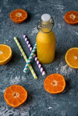 鲜榨橙汁瓶