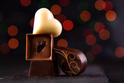 圣诞节的巧克力糖果