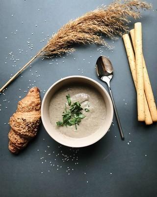 羊角菇奶油汤