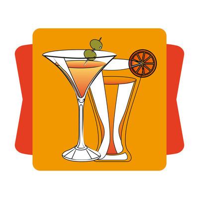 视觉的美味饮料