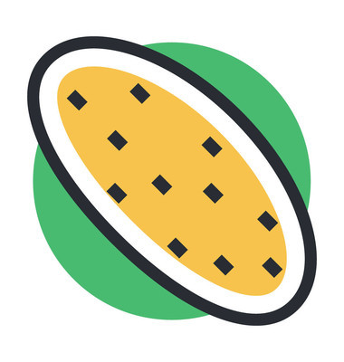 马铃薯彩色的矢量图标