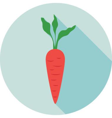 胡萝卜矢量图标