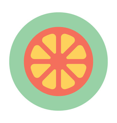 柠檬切片矢量图标