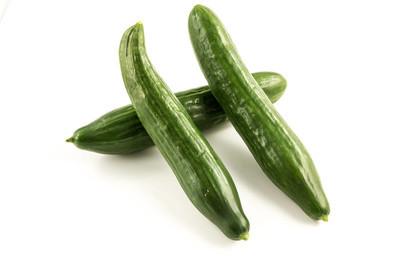 Fresh green cucumber from the garden