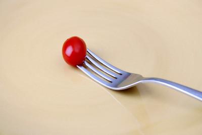 单个番茄上叉