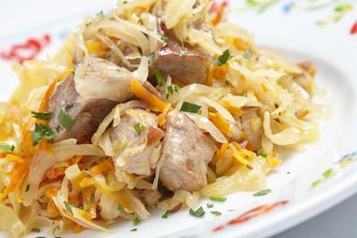肉的美味白菜