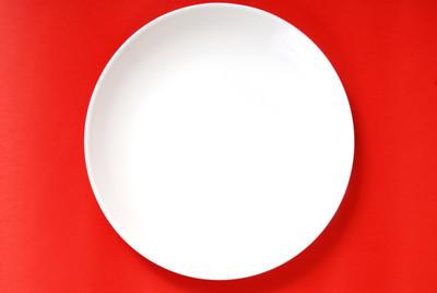 简单的白板上红色背景