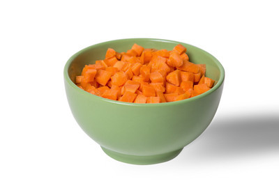 在盘子里的胡萝卜