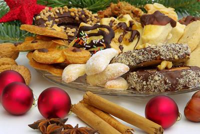 在圣诞节的时候饼干