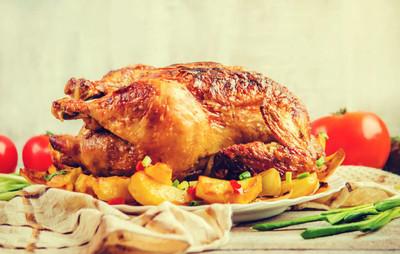 炸鸡感恩节选择性焦点