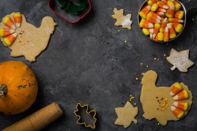 感恩节的理念--烘焙配料和符号