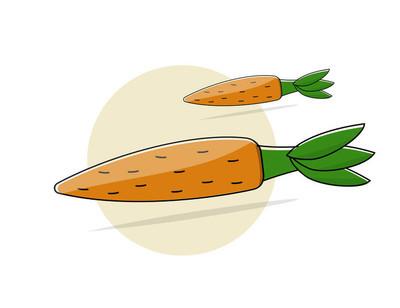 胡萝卜.卡通风格