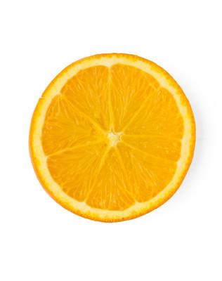 切片的橙色