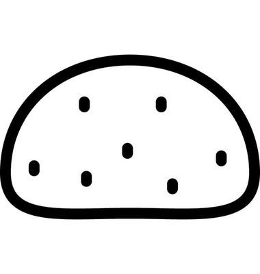 马铃薯平面矢量图标