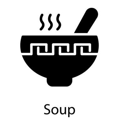 喝汤匙的汤碗是健康食品