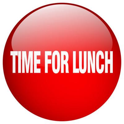 午饭红色圆形凝胶分离按钮的时间