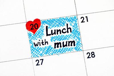 在日历中提醒妈妈午餐