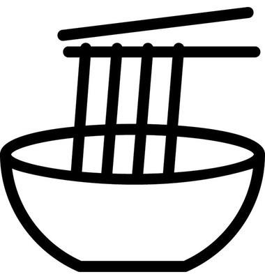面条平面矢量图标