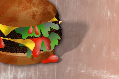吉士汉堡食品图